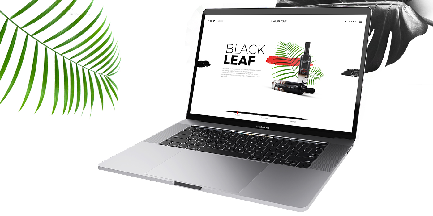 BlackLeafVodka – website